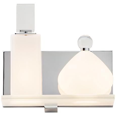 "LBL Lola A and B 8""H Polished Chrome 2-Light Wall Sconce"