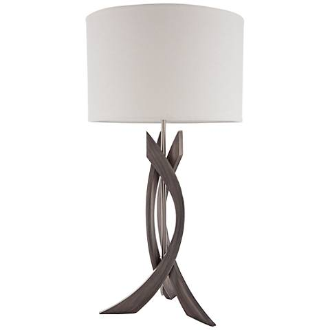 Nova Trensa Ash Gray 3-Slice Abstract Wood Table Lamp