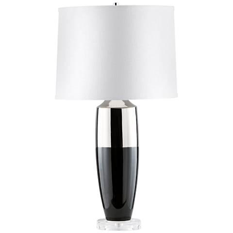 Nova Splash Gloss Black Canister Acrylic Table Lamp