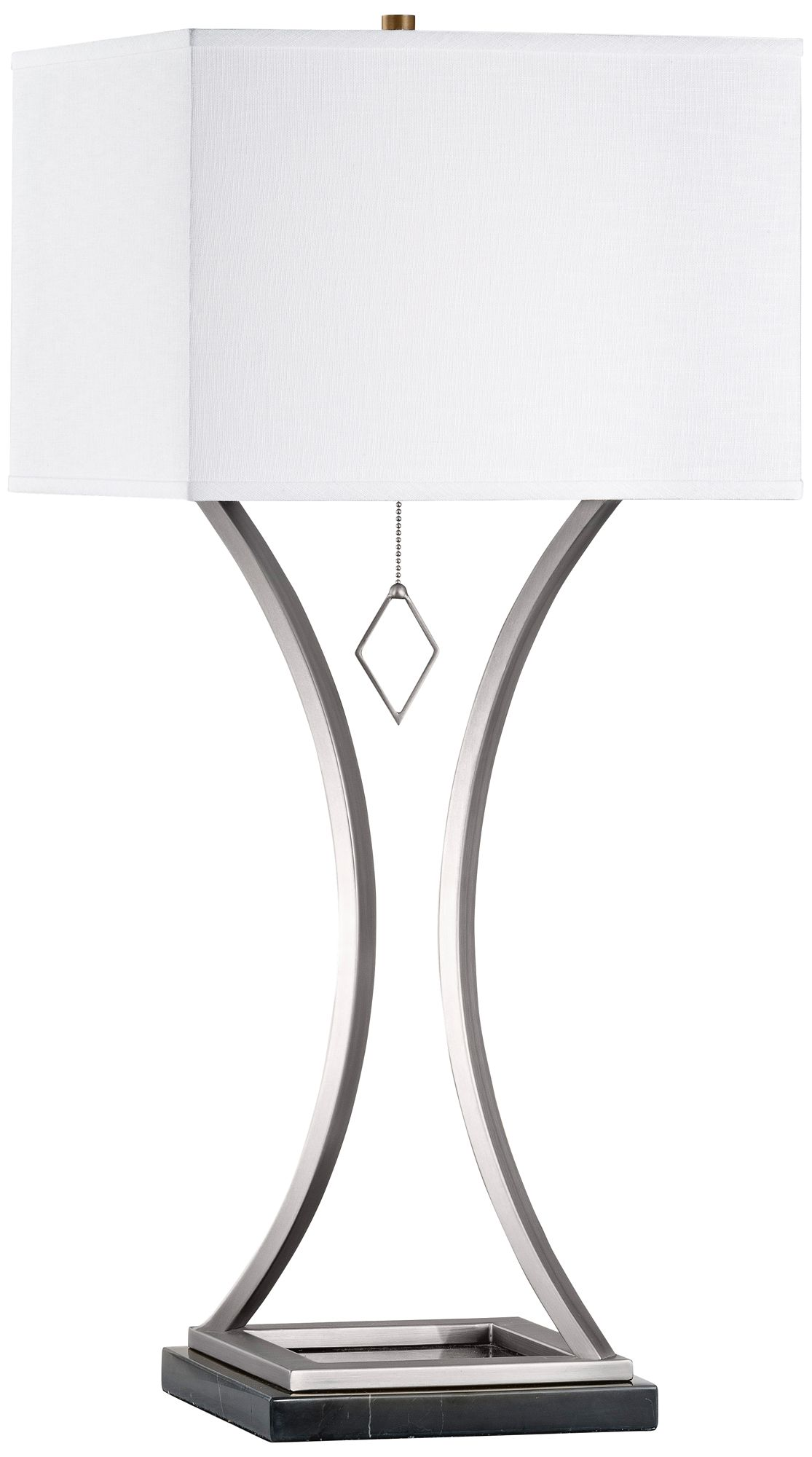 Nova Jubilee Antique Nickel Hourglass Table Lamp