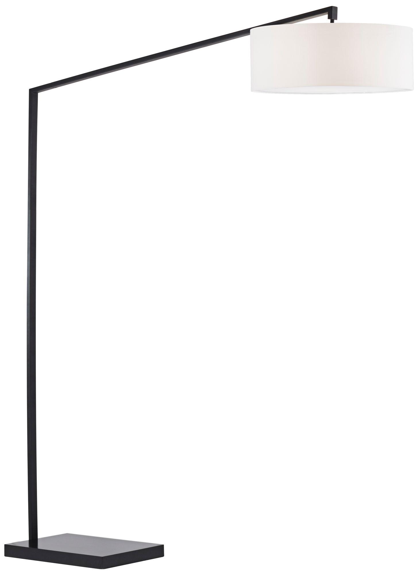 nova stretch tall matte black chairside arc floor lamp
