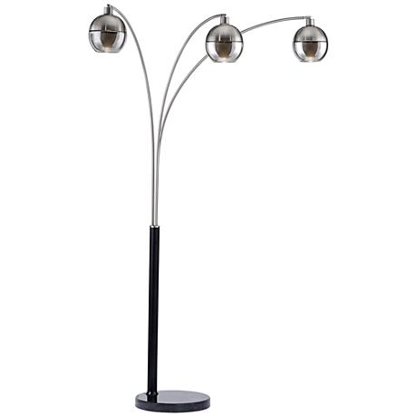 Nova Orson Brushed Nickel 3-Light Arc Floor Lamp
