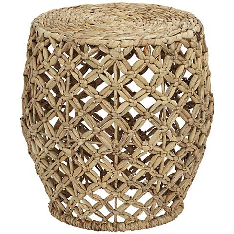Piper Water Hyacinth Crossweave Accent Table
