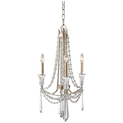 "Barcelona 17"" Wide Transcend Silver Crystal Chandelier"