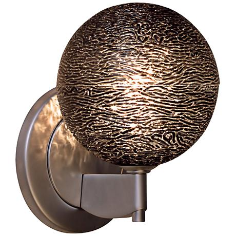 """Bruck Dazzle 4 3/4""""H Black Glass LED Wall Sconce"""