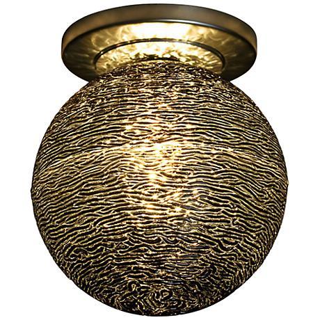 "Bruck Dazzle 6"" Wide Bronze LED Ceiling Light"