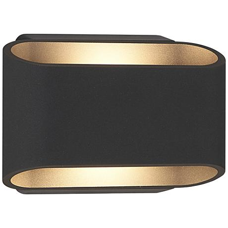 """Eclipse 5 1/4""""H Anthracite Outdoor Dual LED Wall Light"""