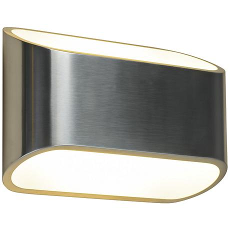 """Bruck Eclipse 4 1/2""""H Brushed Chrome LED Wall Sconce"""