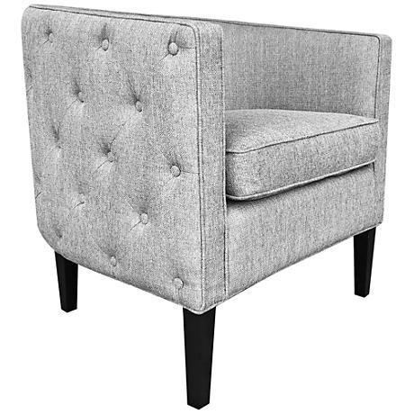 Lulu Soft Gray Stallion Linen Accent Chair