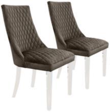 Arlene Dark Gray Mistral Velvet Side Chair Set of 2