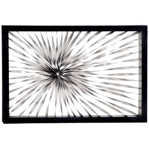 Metal Wall Art Lamps Plus : Twisted Sunburst 60