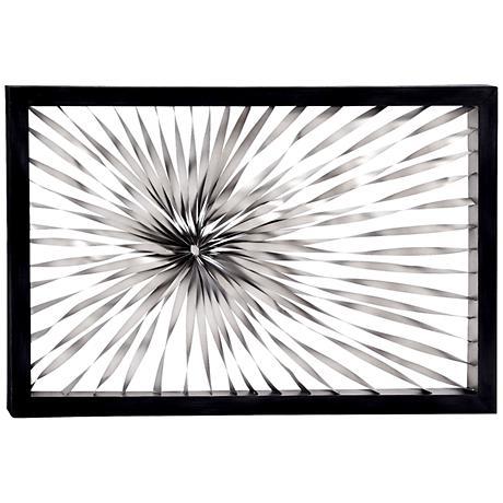 Twisted sunburst 60 wide metal wall art 11n94 lamps plus for Sunburst wall art