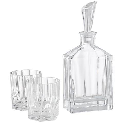 Nachtmann Aspen Clear Bavarian Crystal 3-Piece Decanter Set