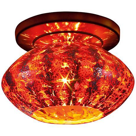 """Bruck Pandora 5 3/4""""W Garnet Glass Bronze LED Ceiling Light"""