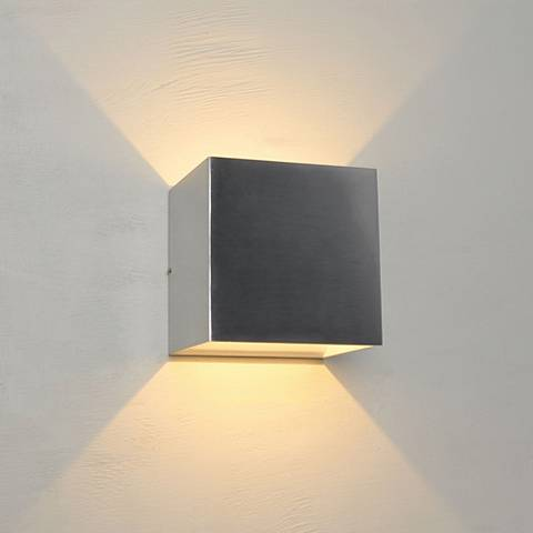 "Bruck QB 4 1/2"" High Brushed Chrome LED Wall Sconce"