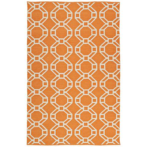 Kaleen Brisa BRI05-89 Orange Outdoor Area Rug