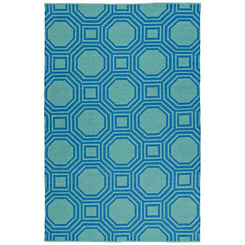Kaleen Brisa BRI06-17 Blue Outdoor Area Rug