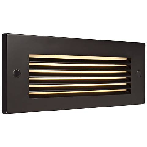 "Bruck Step 8 3/4"" Wide Bronze Louver Outdoor LED Step Light"