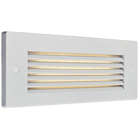 """Bruck Step 8 3/4"""" Wide White Louver Outdoor LED Step Light"""