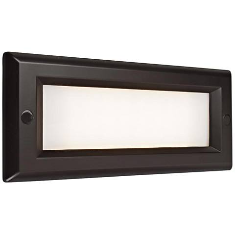 "Step 8 3/4"" Wide Bronze Opal Lens Outdoor LED Step Light"