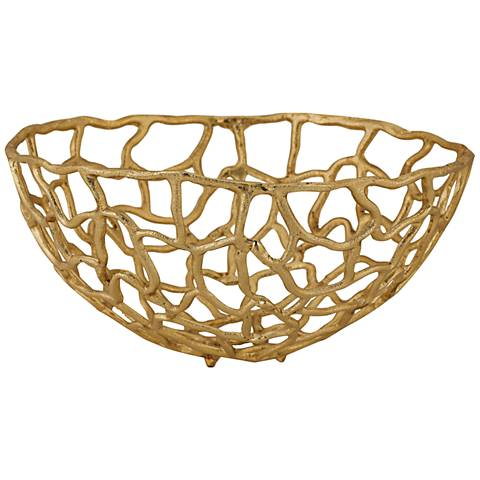 Corvallis Medium Gold Metal Freeform Bowl