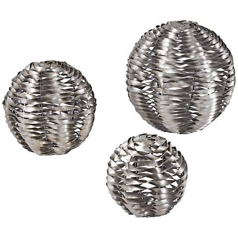 Zephyr Silver Leaf 3-Piece Metalwork Object Figurine Set