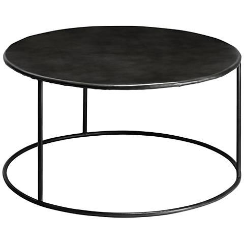 Jamie Young Americana Iron Round Coffee Table