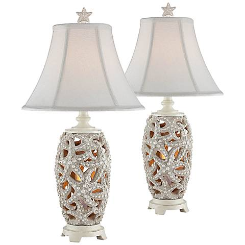 Avonmore Starfish Night Light Table Lamp Set of 2