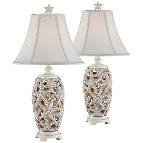 Avonmore Starfish Night Light Table Lamp Set of 2 - #11R56 ...
