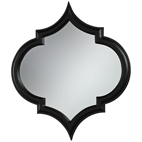 "Cyan Design Corinth Black 22 1/2"" x 25 1/2"" Wall Mirror"