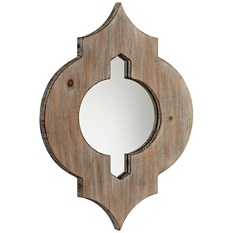 "Cyan Design Turk Washed Oak 13 1/4"" x 17 3/4"" Wall Mirror"