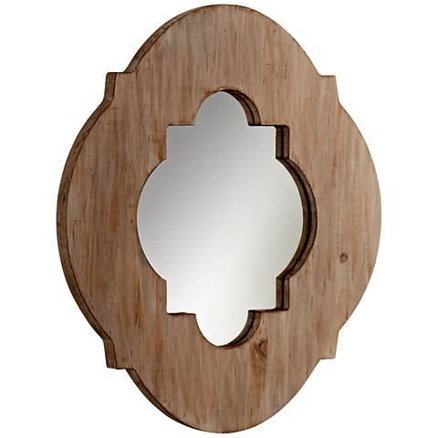 "Cyan Design Larkin Washed Oak 15 1/4"" x 18"" Wall Mirror"
