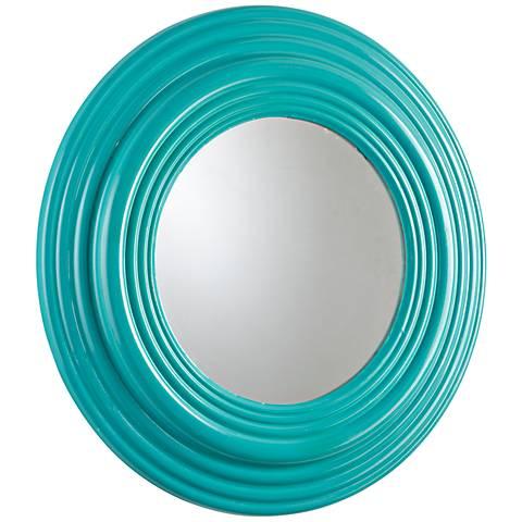"Cyan Design Cain Cyan Blue 32"" Round Wall Mirror"
