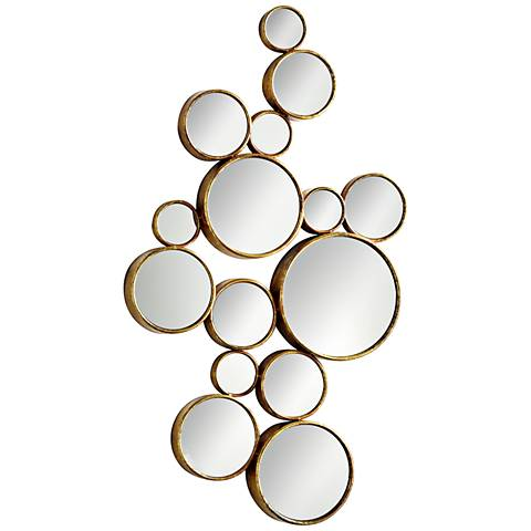 "Cyan Design Bubbles Gold 24"" x 41"" Wall Mirror"