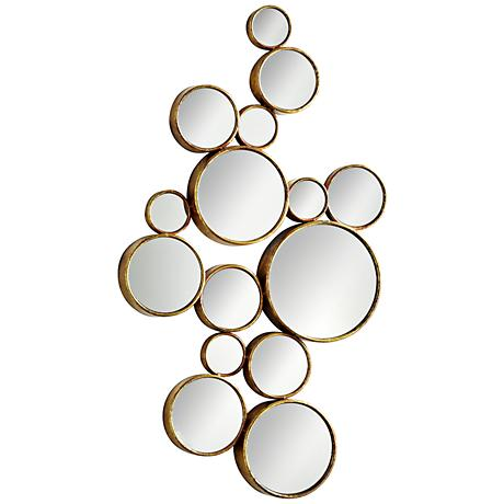 "Cyan Design Bubbles Gold 24"" x 41"" Wall Mirror"