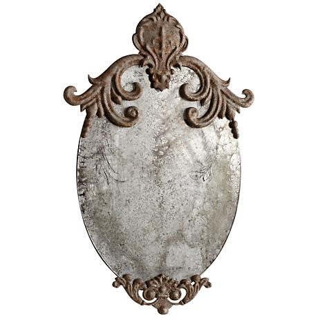 """Cyan Design Charlemagne Rustic 12"""" x 20 1/2"""" Wall Mirror"""