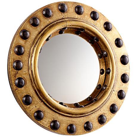 """Cyan Design Periscope Brass 11 3/4"""" Round Wall Mirror"""