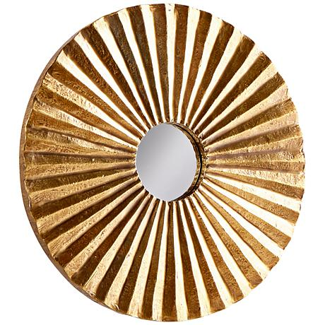 """According to You Vintage Brass 12"""" Round Wall Mirror"""