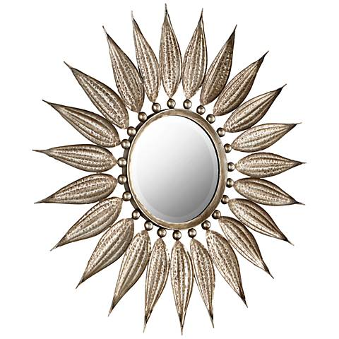 "Sunflower Reflections Bronze 32 1/2"" Round Wall Mirror"