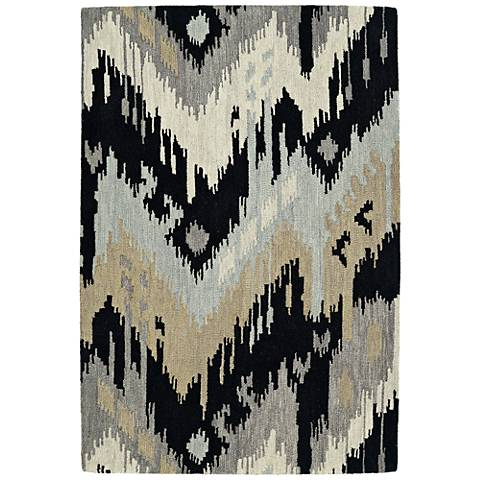 Kaleen Casual 5054-02 Black Wool Area Rug