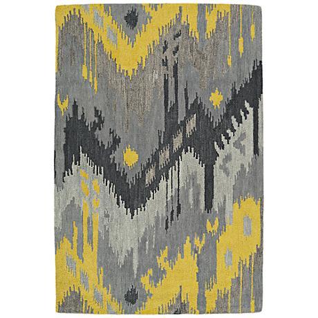 Kaleen Casual 5054-75 Gray Wool Area Rug