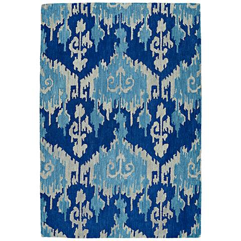 Kaleen Casual 5055-10 Denim Wool Area Rug
