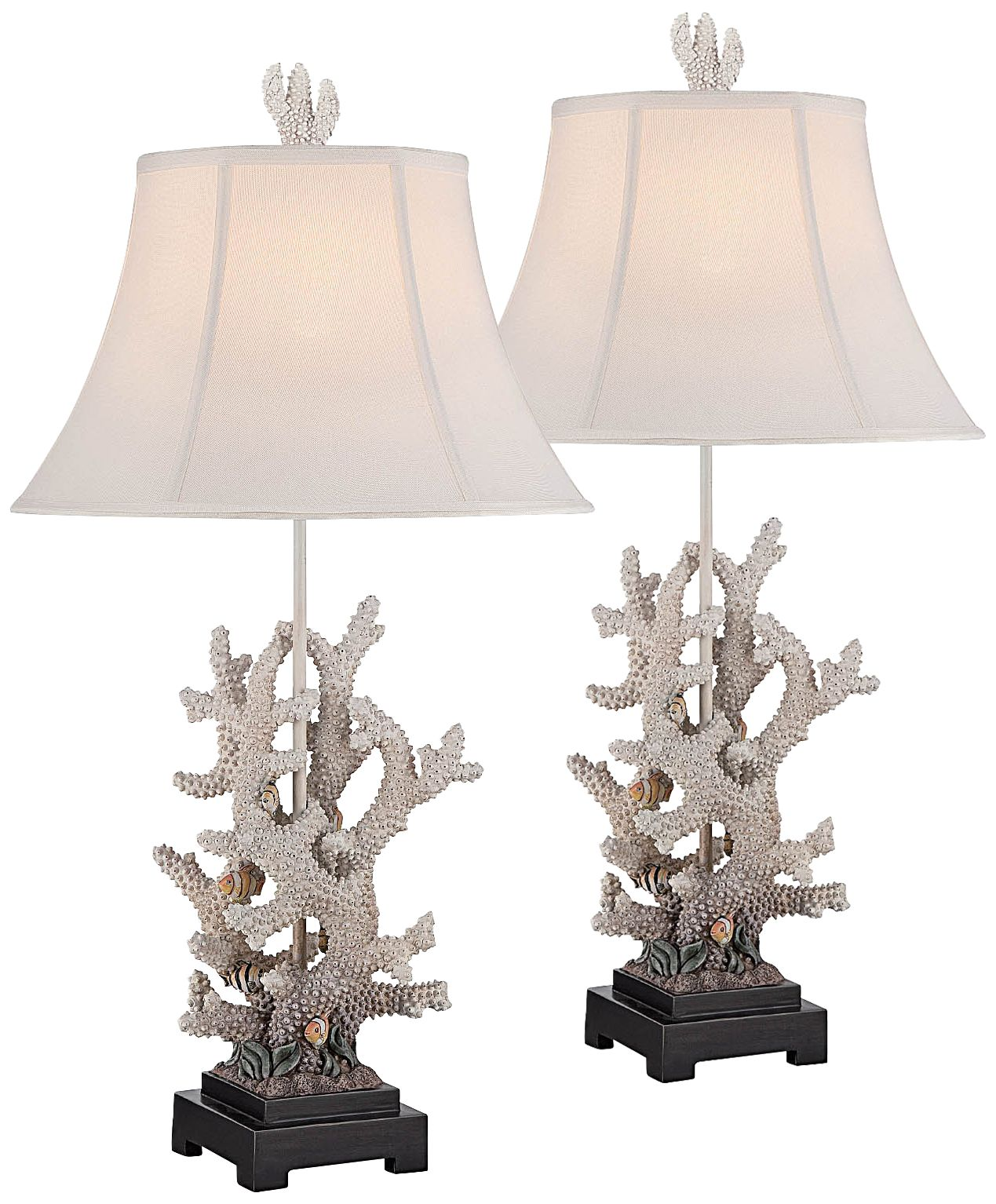 Lovely Waikiwi Tropical Fish Table Lamp Set Of 2