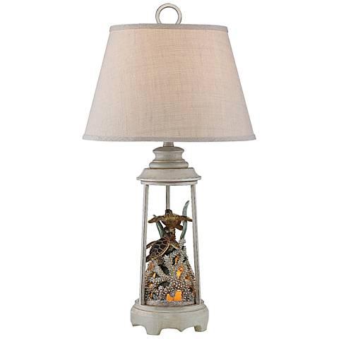 Turtle Reef Night Light Table Lamp