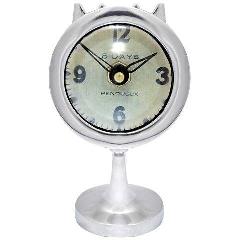 "Airstream 7"" High Aluminum Potato Baker Retro Table Clock"