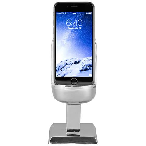 Microphone Polished Aluminum Smartphone Charging Stand