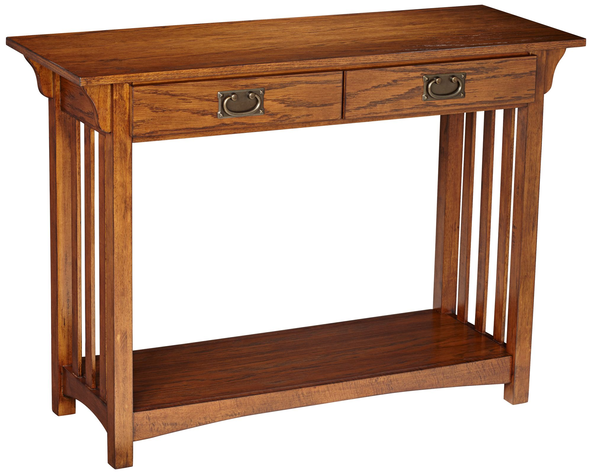 Shiloh Mission Style Dark Oak Console Table