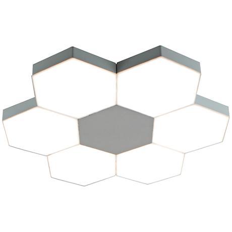 "Zazil 18"" Wide Chrome LED Ceiling Light"