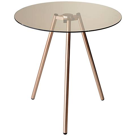 Gibson Tinted Glass Tripod Accent Table