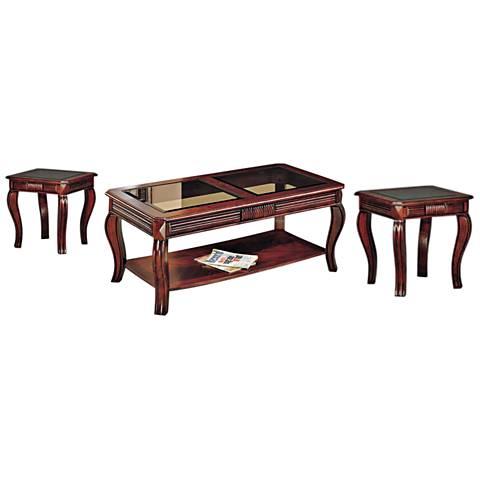 Christoff Cherry 3-Piece Living Room Table Set